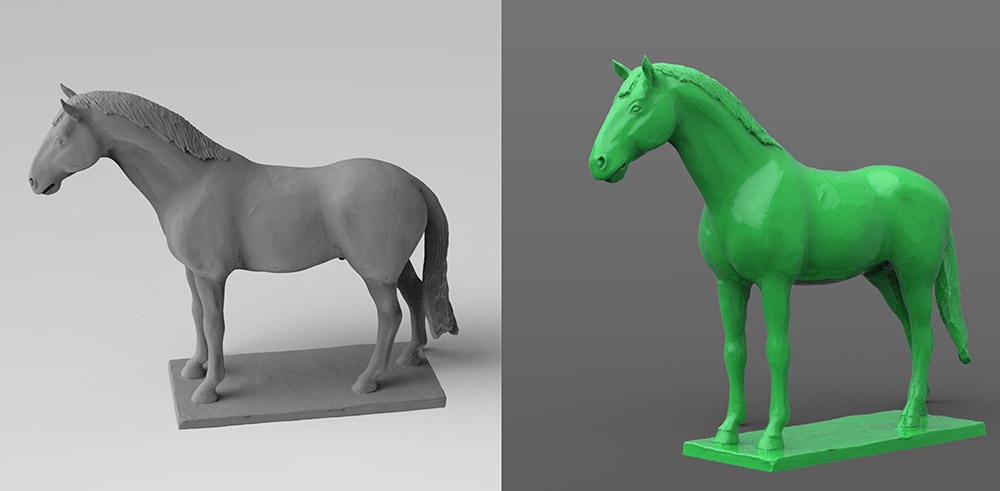 Ló szobor digitalizálás